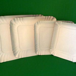 Bandejas De Carton Blancas